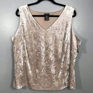NWT New directions curvy crushed velvet tank